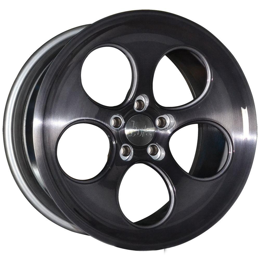 18 inch STAGGERED BOLA B5 5x120 SMOKE 5 stud Alpina BMW alloy wheels