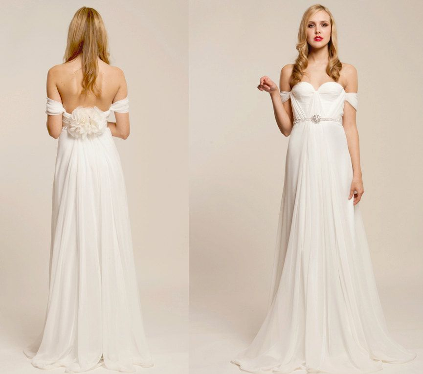 Annie Wedding Gown Silk Hand Gathered Bustier Gown - etsy.com ...