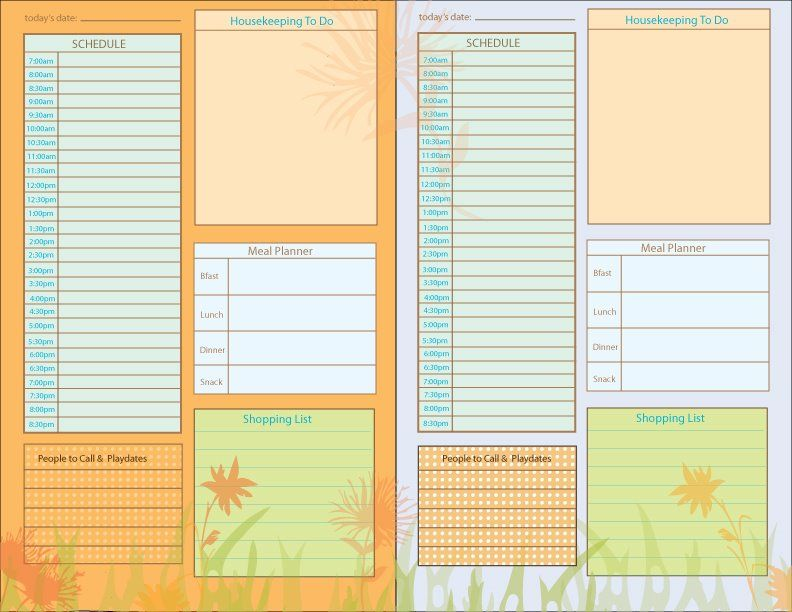 Daily Planning Pages Day planners, Planner pages