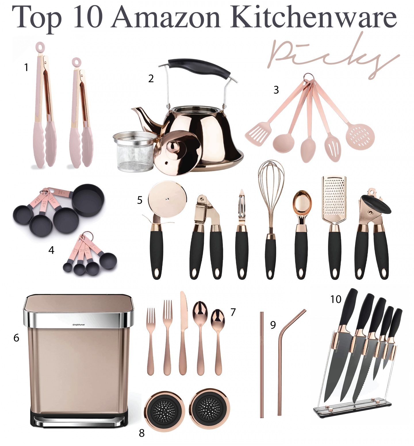 Favorite Rose-Gold Kitchenware From Amazon - Beauty Detour