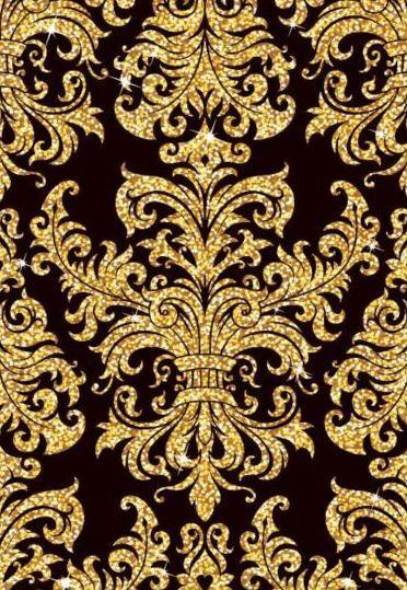 Luxury Golden Decor Pattern Vectors Set 03 Golden Wallpaper