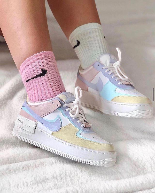Nike Air Force 1 Shadow White Glacier Blue Ghost Shoes | Nike air ...