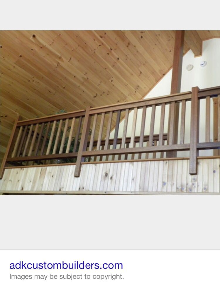 Balcony railing & wood ceiling | Rustic stairs, Interior ...