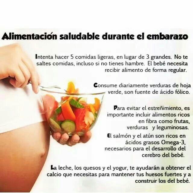 Desde antes de nacer el beb requiere una buena alimentaci n para tener un ptimo crecimiento y - Alimentos saludables para embarazadas ...