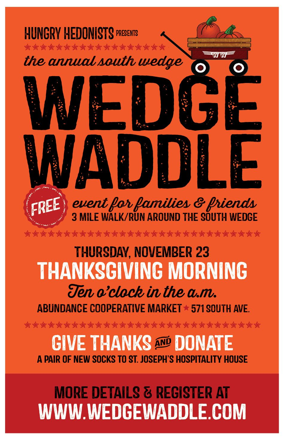 Need A Thanksgiving Morning Tradition Ours Is The Wedge Waddle Roc Thanksgiving Mornings Wedges Give Thanks