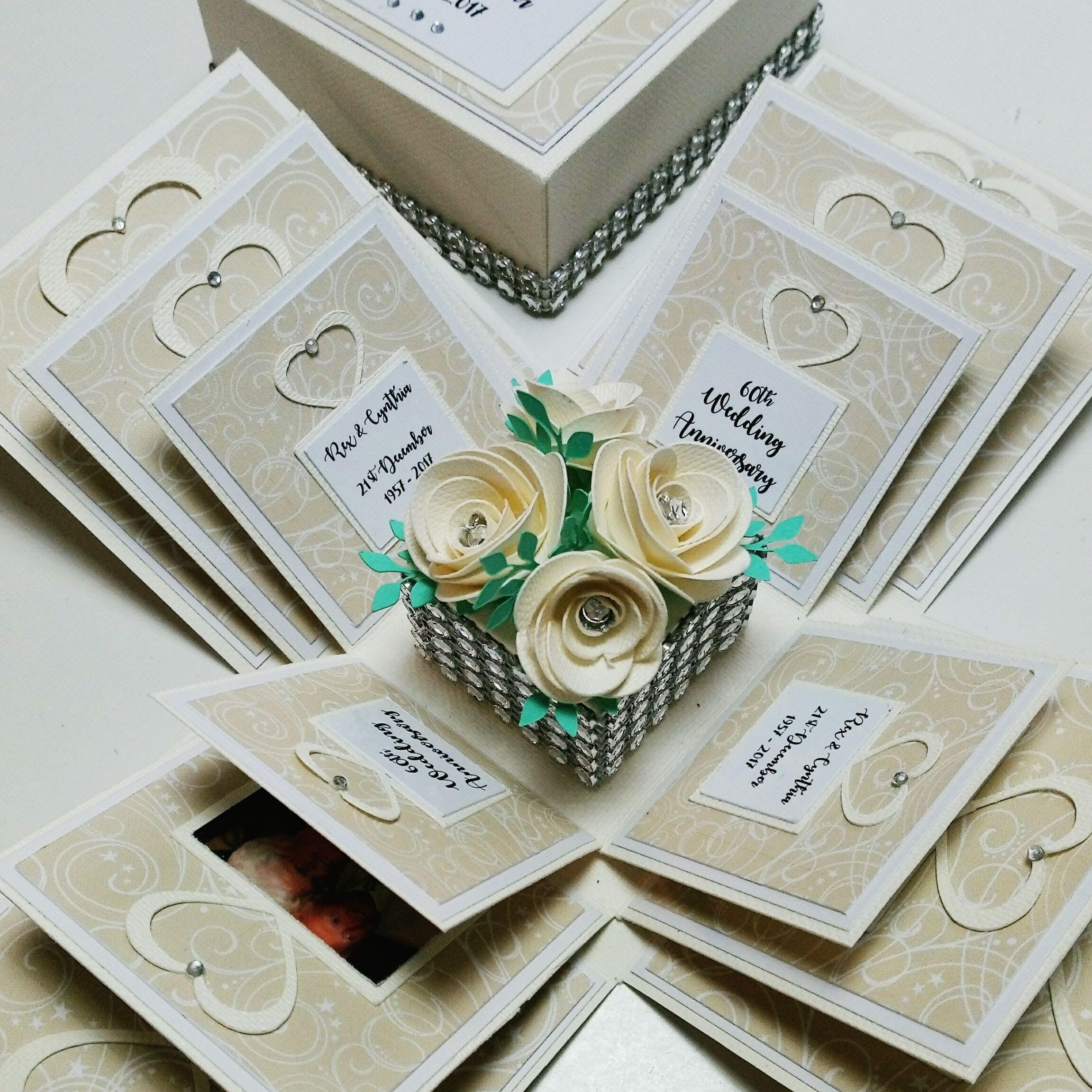 Exploding 50th Golden Wedding Anniversary Box Card Etsy 50 Golden Wedding Anniversary Wedding Invitation Keepsake Golden Wedding Anniversary