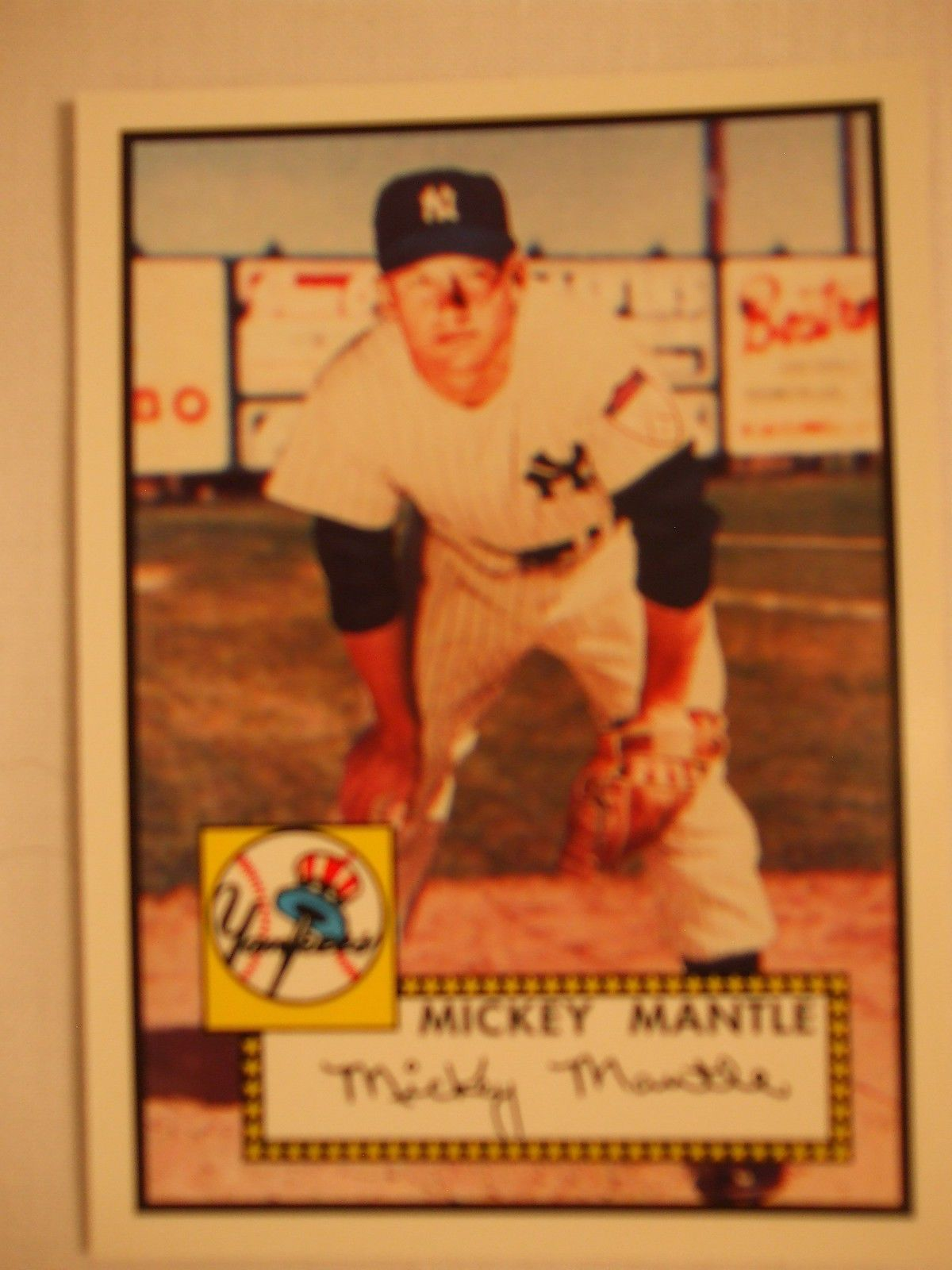 mickey mantle topps card 2006