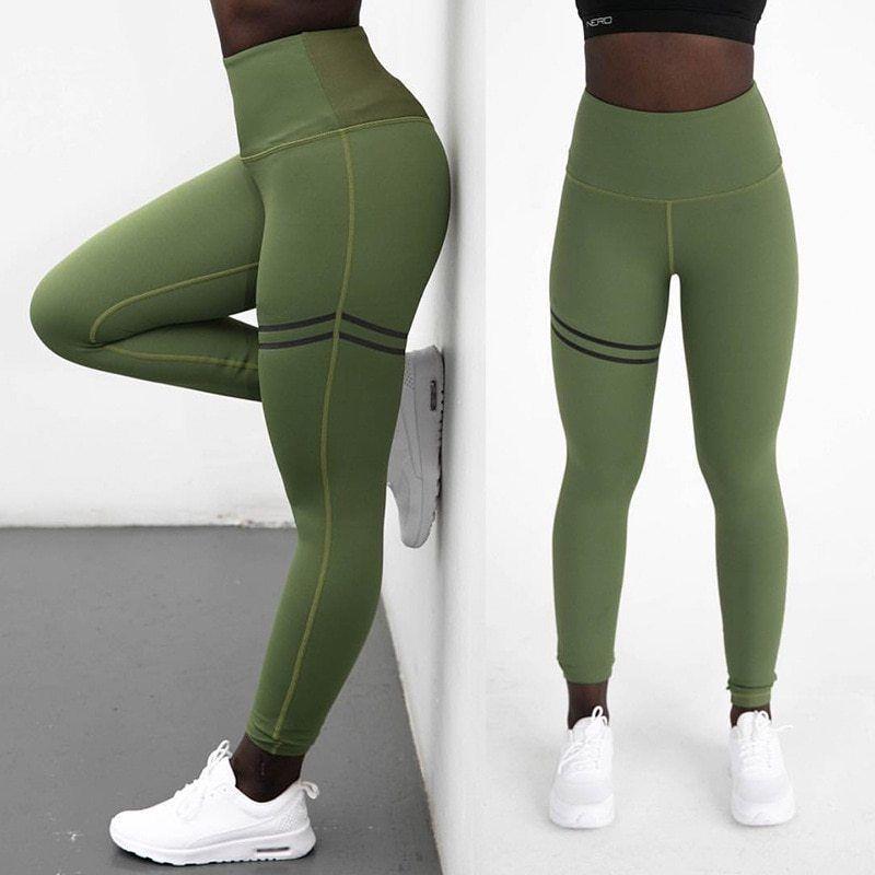 Women S Elastic Fitness Sport Leggings Tights Running Sportswear Sports Pants Ebay Fitness Leggings Women Sports Pants Women High Waist Sports Leggings