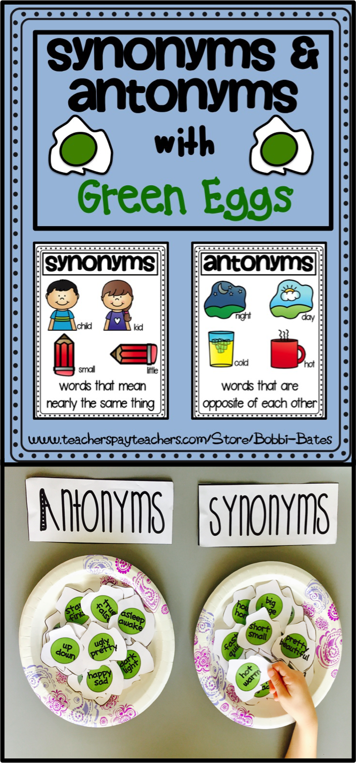 Synonyms & Antonyms with Green Eggs | Grammar | Pinterest | Fun ...