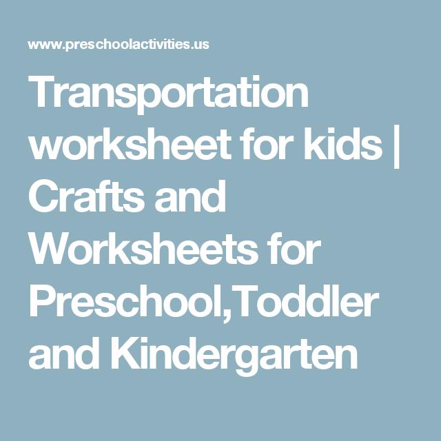 Transportation worksheet for kids | Crafts and Worksheets for ...