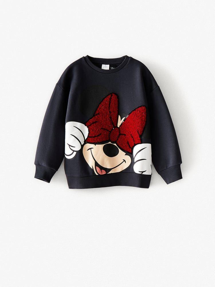Sudadera Minnie Mouse Disney Lentejuelas Zara España Sudadera De Disney Sudadera De Mickey Ropa Disney