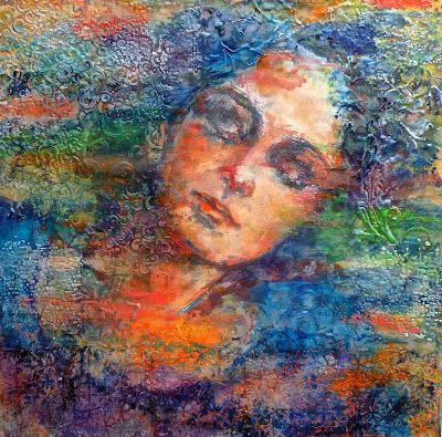 Painting in encaustic and mixed media by Ezshwan Winding.