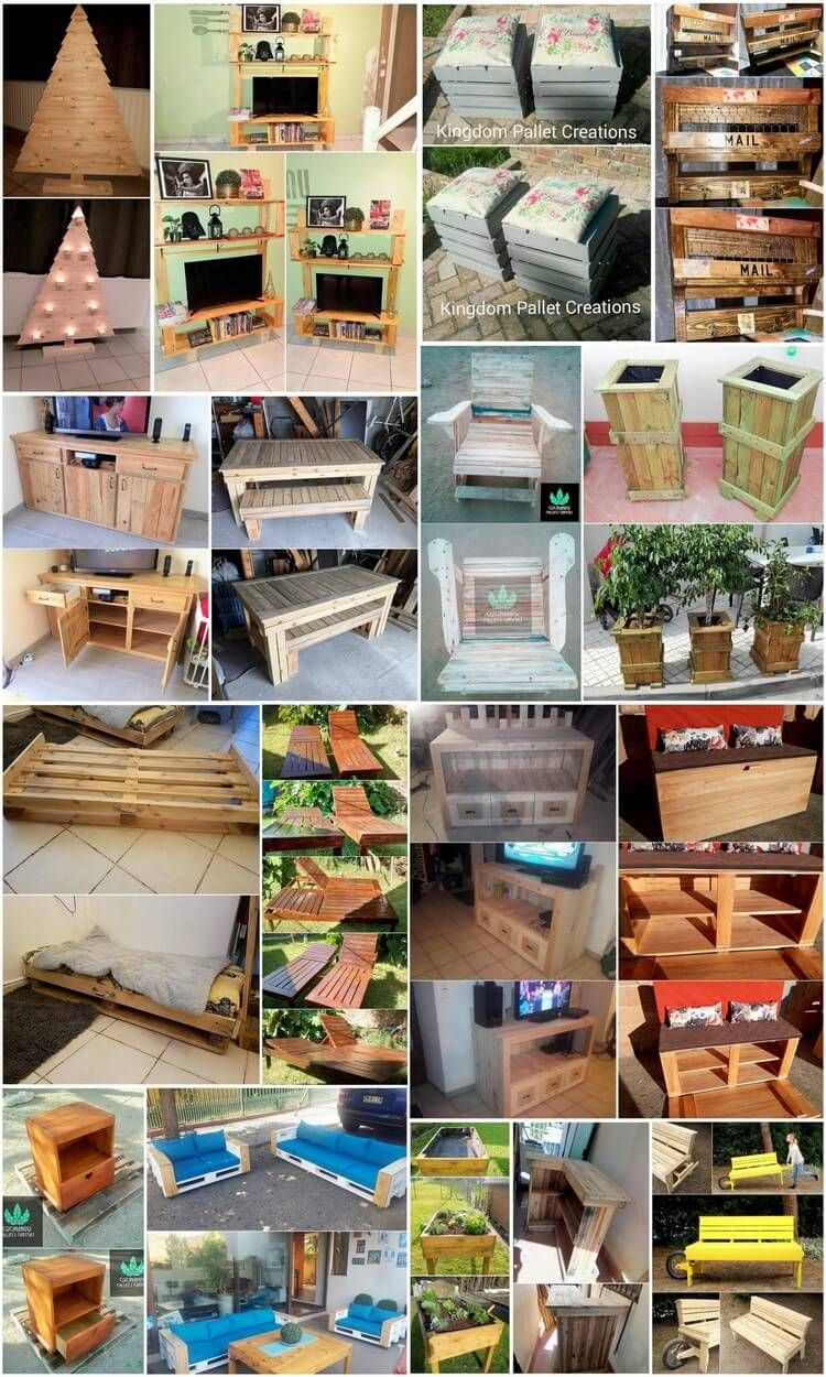 Sensational Ideas For Old Wood Pallets Reusing: Wood Pallet Furniture Ideas  Are One Such Extraordinary Choices For Your Home That Will Never Disappoint  You ...