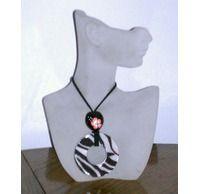 Trendy Zebra Print Necklace