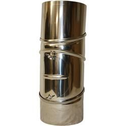 Photo of Komfyrbøye (diameter: 130 mm, bøyevinkel: 0 – 90 °, med rengjøringsåpning, rustfritt stål, sølv)