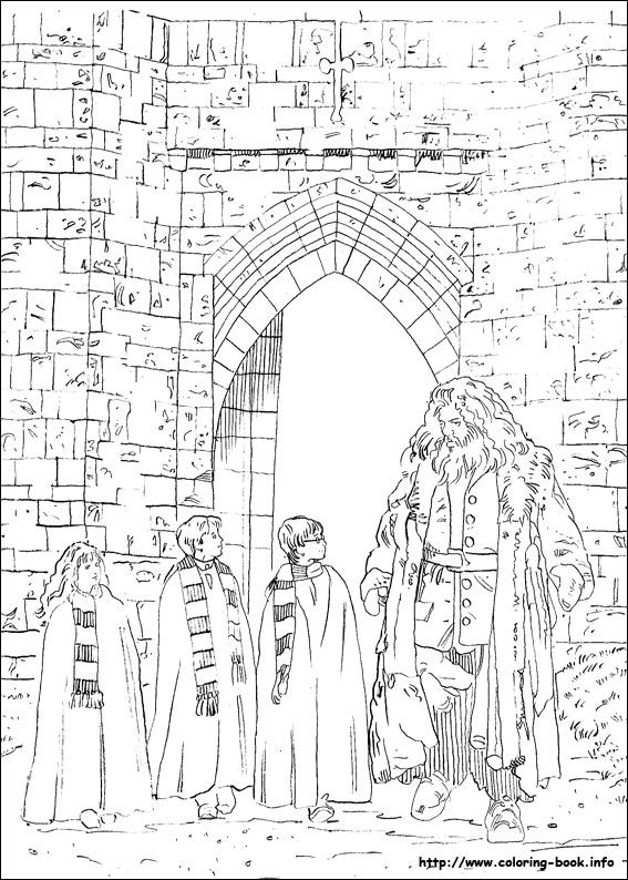 Harry Potter coloring picture | Coloring sheets #bw | Pinterest ...