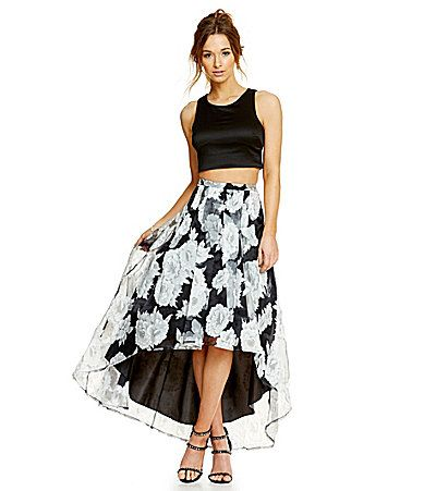 6f2c194a78 Sequin Hearts Floral Skirt Two-Piece Dress #Dillards | I'm So Fancy ...