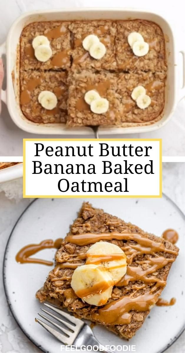 Banana Baked Oatmeal {Vegan & Easy} | FeelGoodFood