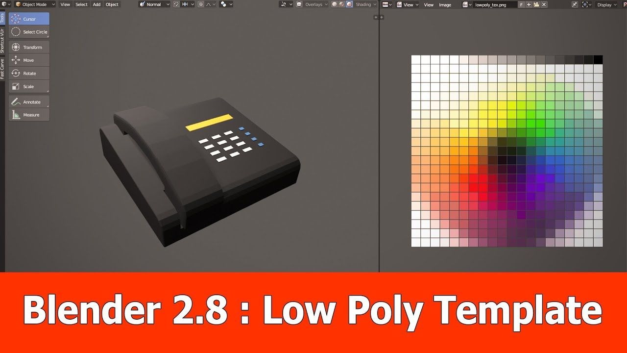Blender 28 Low Poly Modeling Template Game Item Idea In 2018