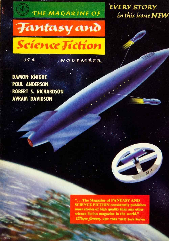 1957 Cover Fantasy Science Fiction Art Morris Scott Dollens Rocket Ship Galaxy #vintage #sciencefiction