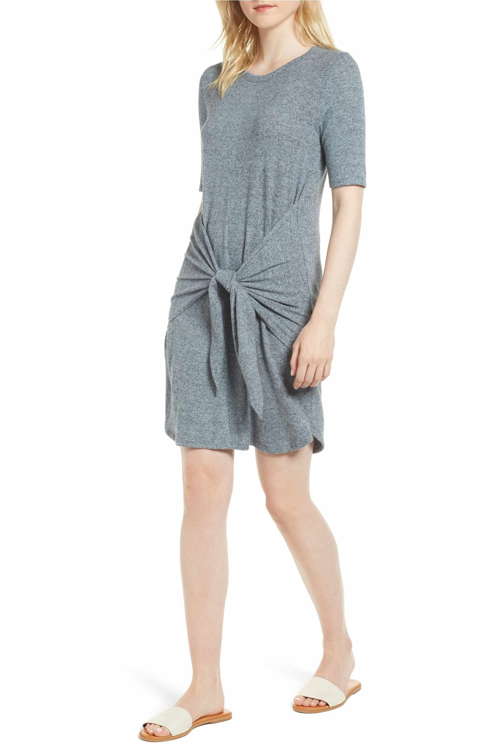 82e2f9c22d7 Main Image - Caslon Off-Duty Tie Front Knit Dress