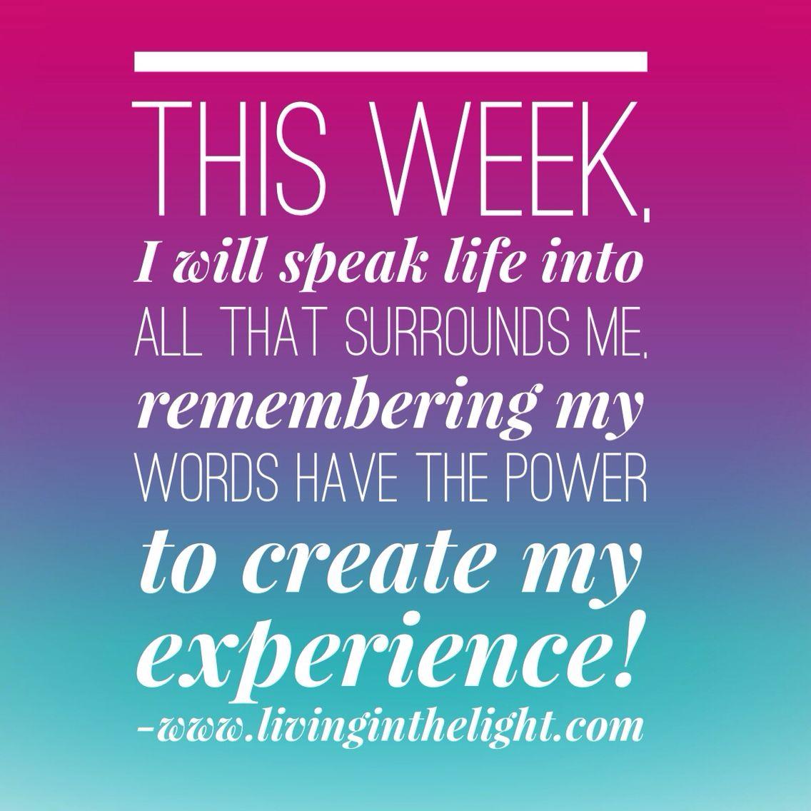 Speak Life to Me