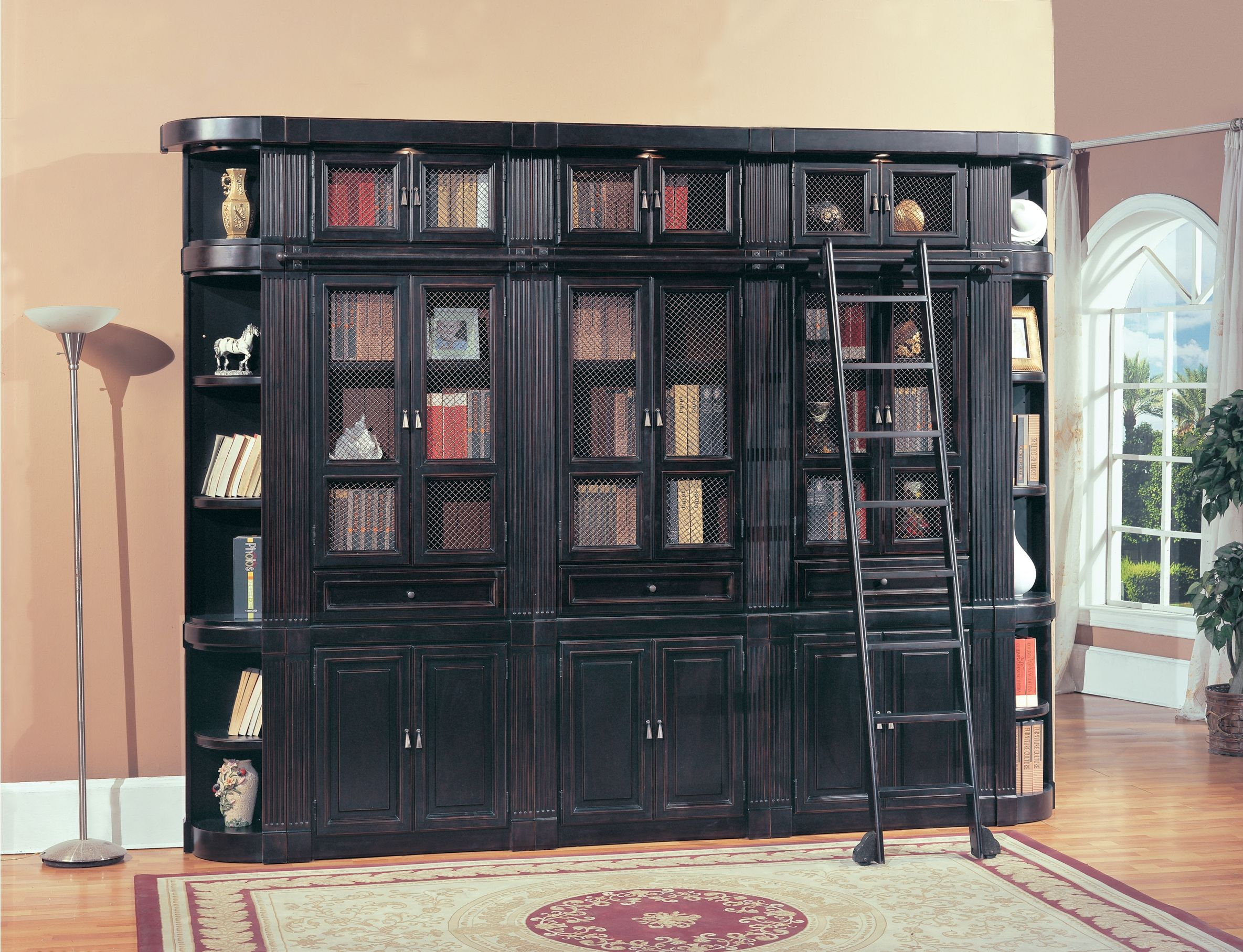 Oxford Library Bookcase Large Wall Unit By Parker House