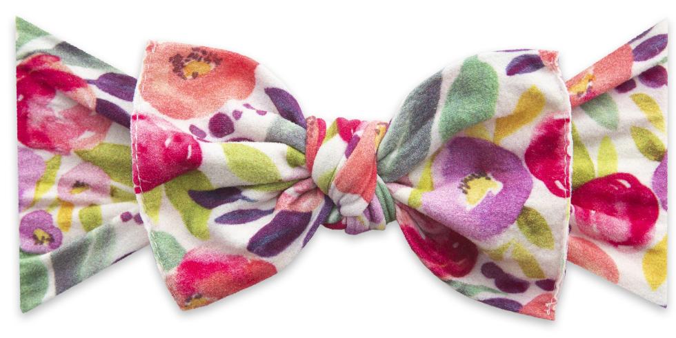 Baby Bling Fresh Watercolor Printed Knot Headband Baby Bling Headbands Knot Headband