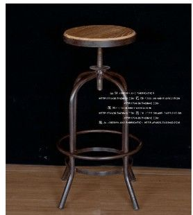 American Country To Do The Old Style Retro Imitation Wrought Iron Rust Lift Bar Stool Chair Rotation