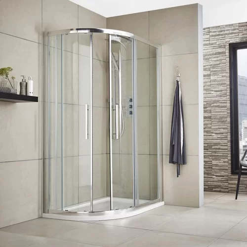 Apex 78cm W X 190cm H Offset Quadrant Sliding Shower Enclosure Shower Enclosure Quadrant Shower Enclosures Quadrant Shower