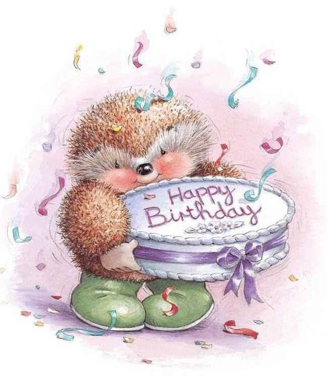 Поздравление ежика с днем рождения фото
