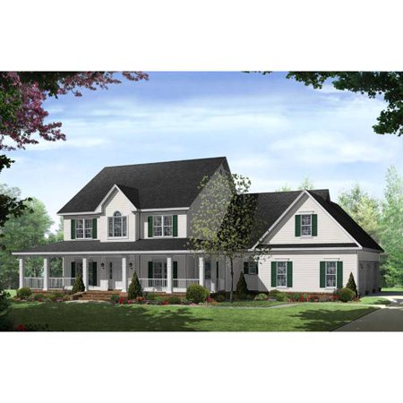 Thehousedesigners 7777 Construction Ready Country House Plan With Basement Foundation 5 Printed Sets Walmart Com Country Style House Plans Country House Plans Basement House Plans