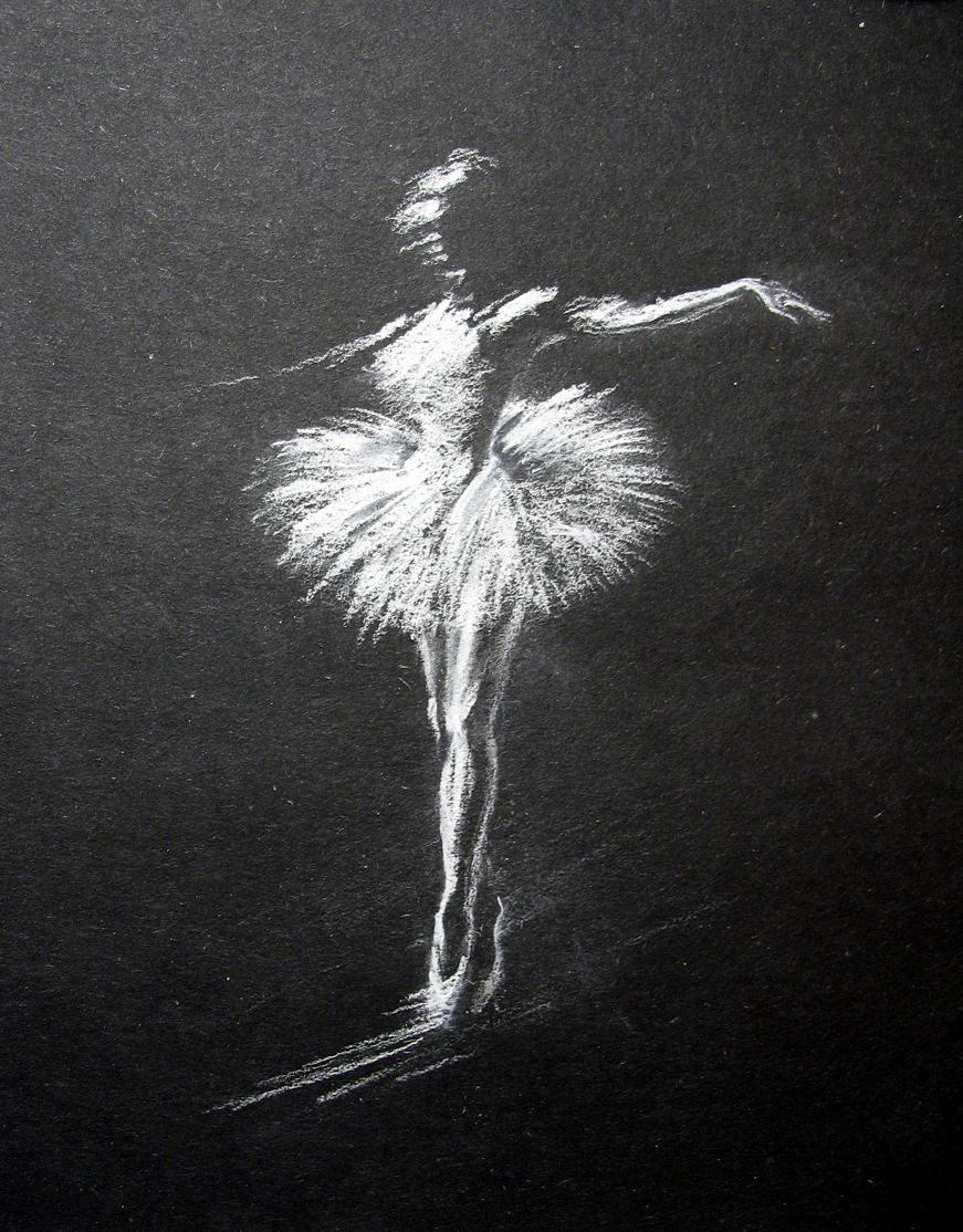 на черной бумаге Поиск в Google балерина in 2019