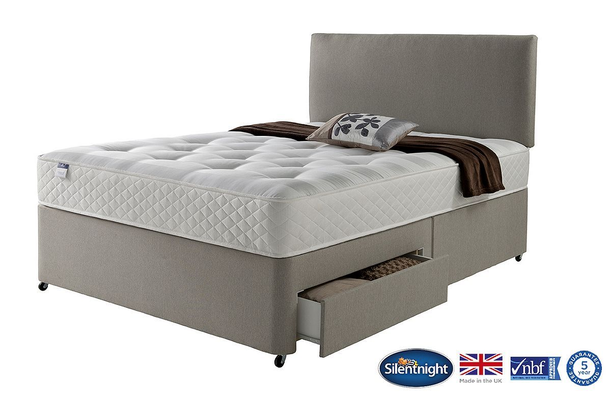2 Continental Drawer 4ft Small Double Divan Base