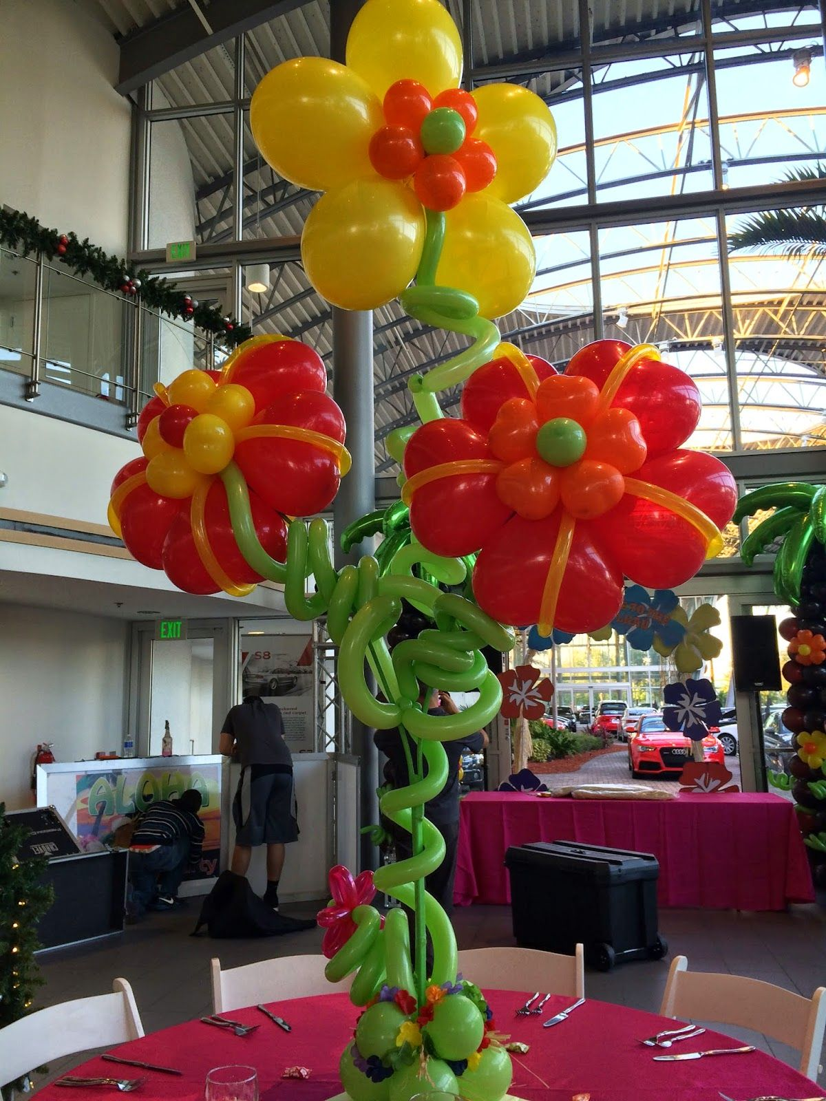Hawaii Party Decoration Hibiscus Flower Balloon In 2019