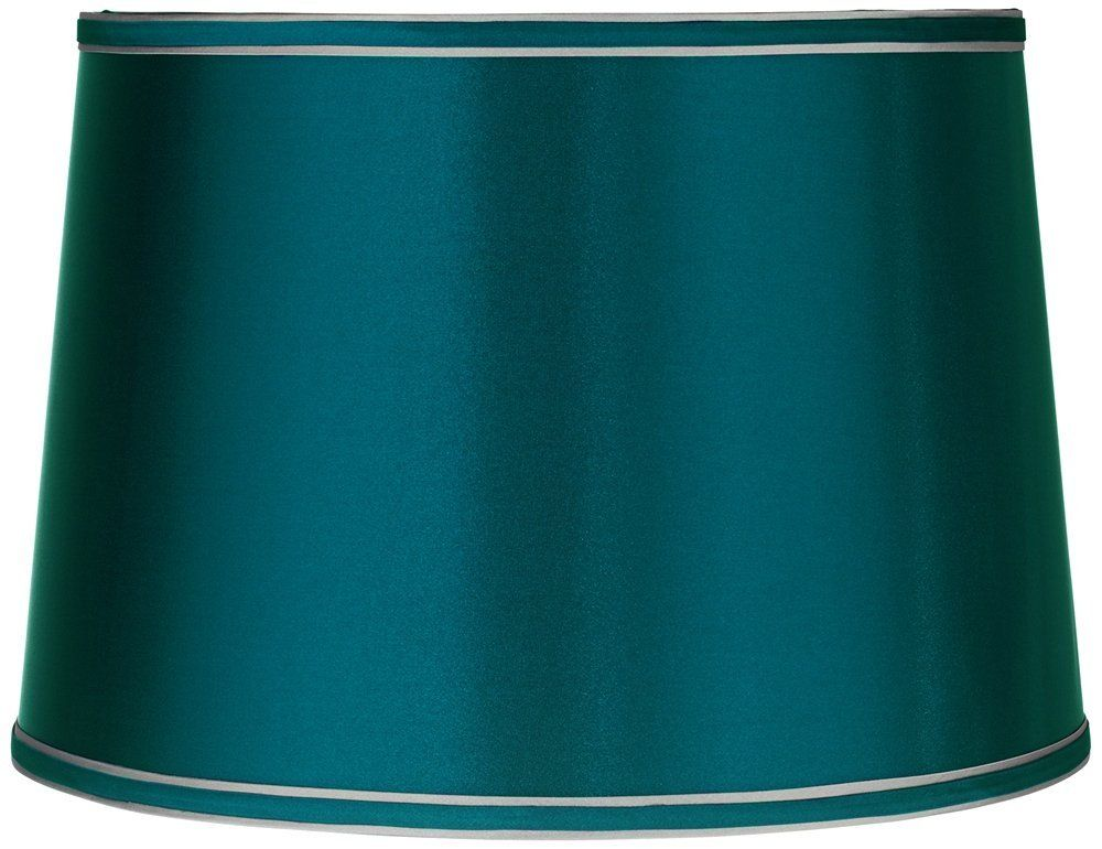 Sydnee Satin Teal Blue Drum Lamp Shade 14x16x11 Spider Brentwood Click Image To Review More Details It Is An In 2020 Blue Lamp Shade Drum Lampshade Blue Lamp