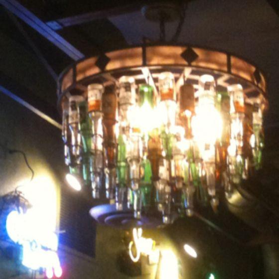 Beer bottle chandelier en la casa funky home pinterest beer beer bottle chandelier mozeypictures Choice Image
