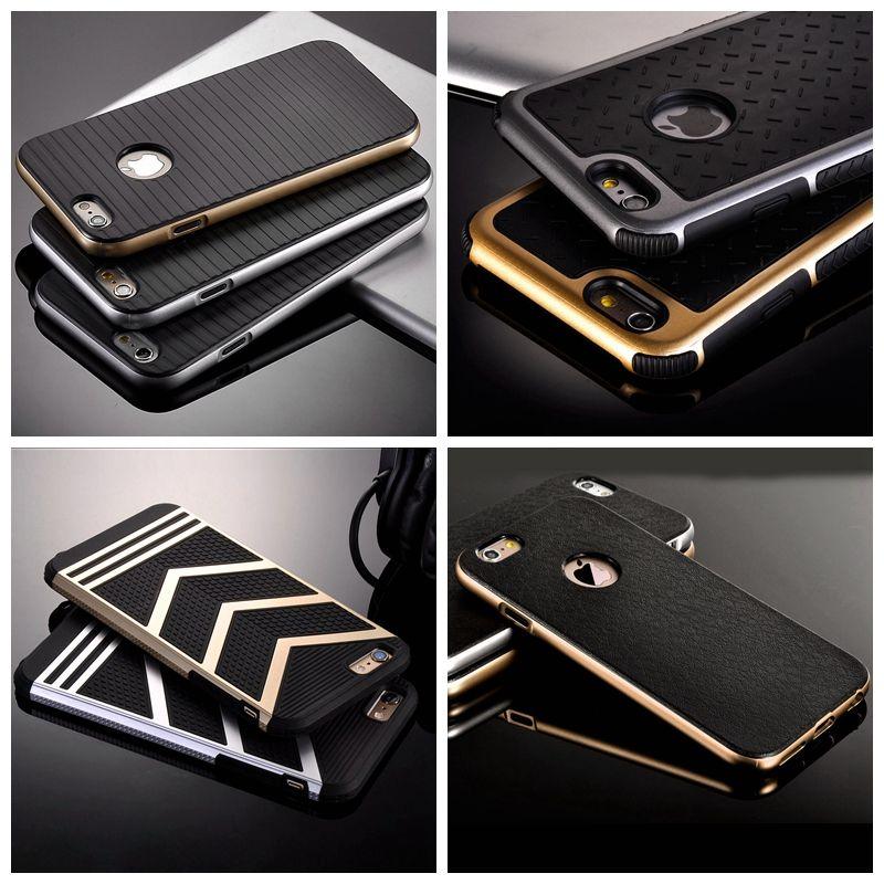 Voor iphone 5 s gevallen luxe retro hard plastic dual layer case voor apple iphone 5 5 s 5g hybrid slim tpu cover zware shell