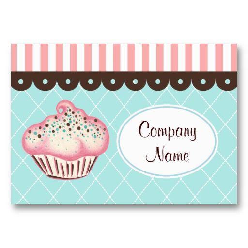 Cupcake business card cake decorating business cards pinterest cupcake business card reheart Choice Image