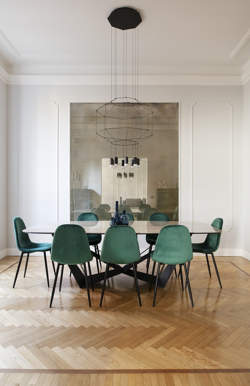 Casa parioli sala da pranzo moderna di arabella rocca ...