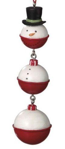 Snowman Christmas Ornament (Fishing Bobbers)