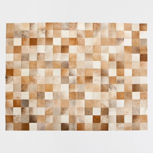 Zara Home Plaid Pattern Leather Rug 699 Liked On Polyvore Featuring Home Rugs Brown Brown Area Rug Tartan Rug Brown Rugs Leather Rug Zara Home Rugs