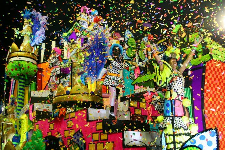 A beautiful colorful float, also called as allegorical car ...