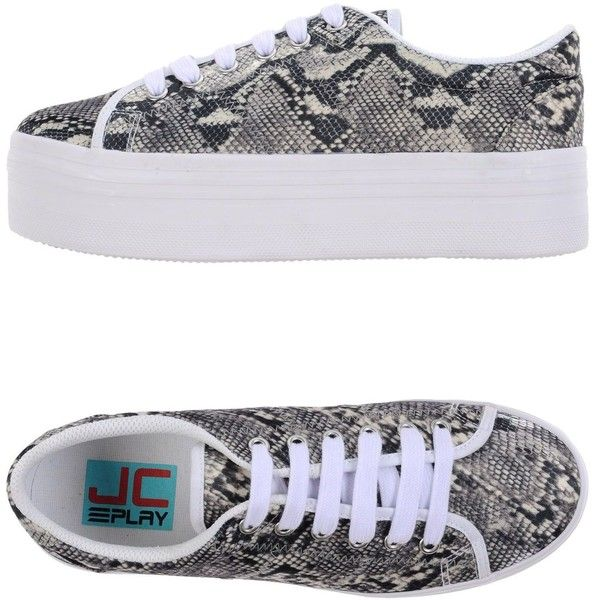 Jc Play By Jeffrey Campbell Low-tops & Sneakers ($77) ❤ liked on Polyvore featuring shoes, sneakers, white, low profile sneakers, white trainers, flatform sneakers, round toe sneakers and low profile shoes