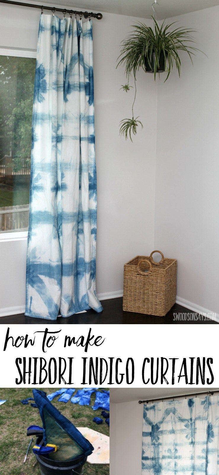 How To Make Indigo Dyed Curtains   Fun Craft Tutorials   Diy