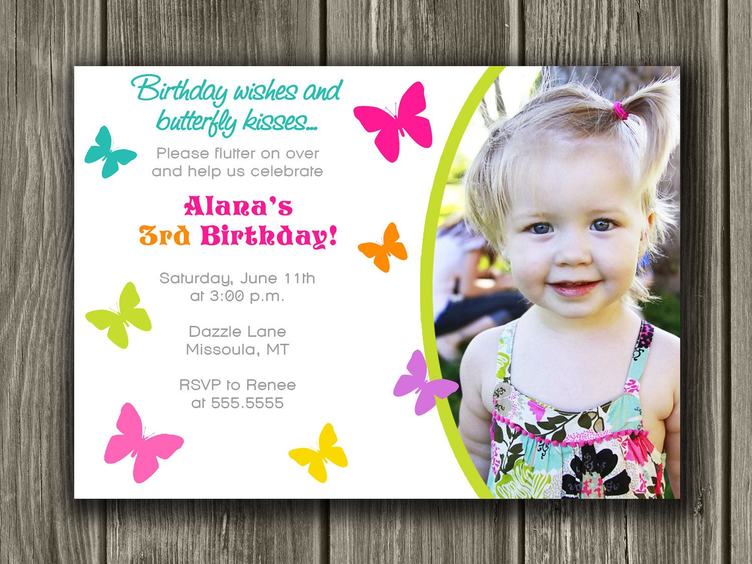 Butterfly Birthday Invitation FREE Thank You By DazzleExpressions - Butterfly birthday invitation images