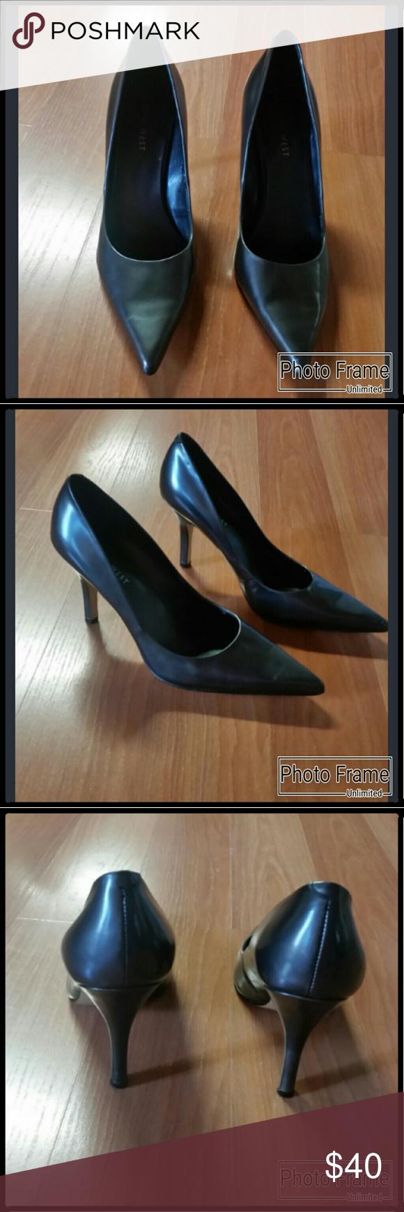 9223f23bfe12 Nine West Heels Shiny grey patent heels by Nine West. These heels are in  EUC. Heels are a Size 61 2. Nine West Shoes Heels