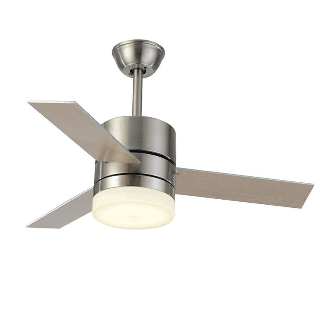 Ikakon Ceiling Fans With Light 36 Inches Led Ceiling Fan 3 Blades Modern Chandelier Fan Remote Control C Led Ceiling Fan Ceiling Fan Ceiling Fan With Light 36 ceiling fan with light