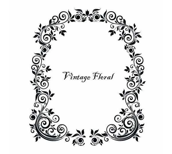Massive Collection Of Vintage Vector Graphics Floral Borders Corners And Frames Free Picture Frames Free Vector Graphics Victorian Picture Frames