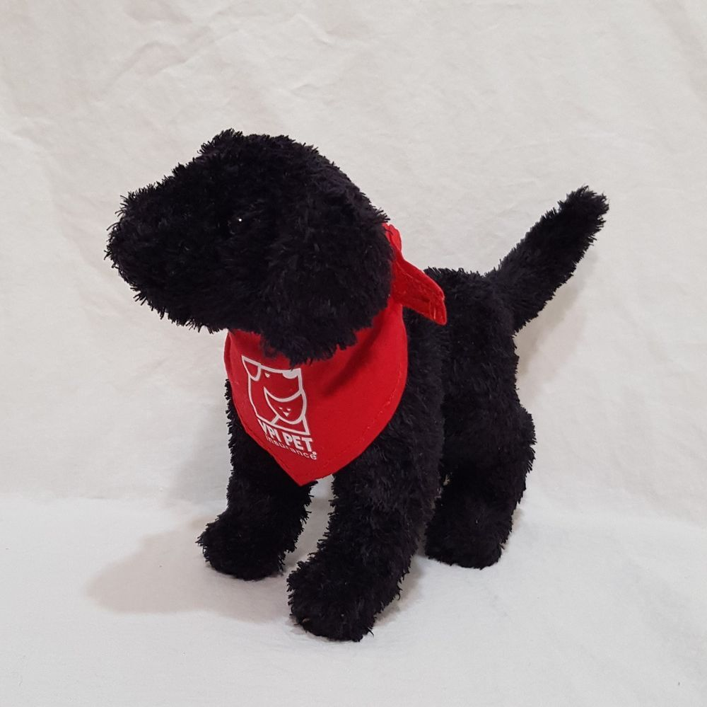 Black Lap Dog Plush Stuffed Animal 5 inches VPI PET